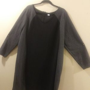 Very Cute Color Blocked Dress, Plus 3X